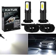 KaTur 881 Bombillas para Luces antiniebla LED Extremadamente Brillantes 2400 lúmenes Máx. LED de Alta