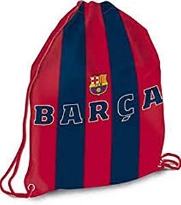 Barcelona FC Football Club Official Crested Drawstring Gym Bag