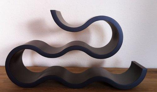 WeiVa Design Weinregal Onda 6 (schwarz)