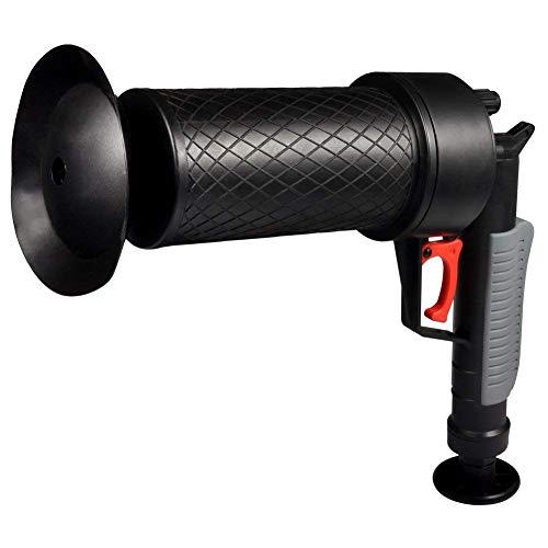 Hochdruck-Abflussöffner Luftpumpe Abfluss-Blaster für verstopfte Badewanne WC Rohr Badewanne mit 4 verschieden großen Saugnäpfen