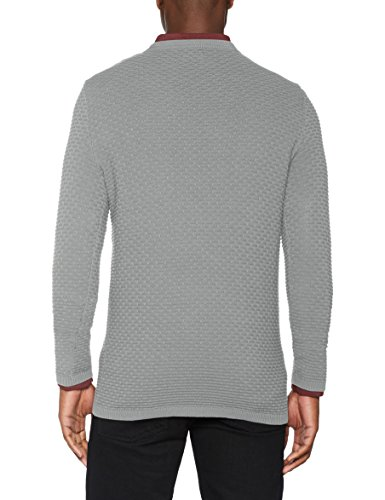 SELECTED HOMME Herren Pullover Shhnewdean Crew Neck Noos Grau (Light Grey Melange)