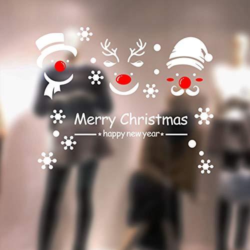 MAYOGO Wandaufkleber Spiegel Buchstaben | Merry Christmas | -