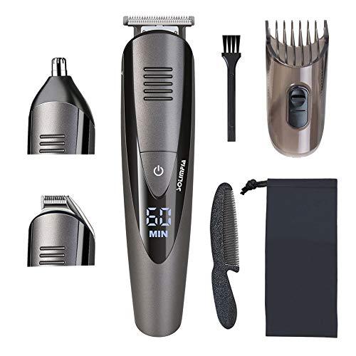 SOLIMPIA Bartschneider Barttrimmer Elektrischer Haarschneider für Männer Gesichtshaartrimmer mit Präzisionstrimmer und Nasentrimmer