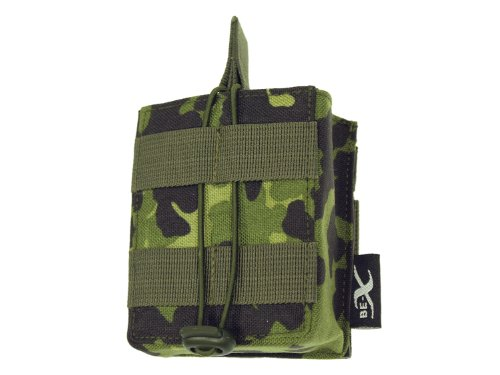 BE-X Open Mag Pouch / Magazintasche -Single- für HK 417, MOLLE - dänisch tarn