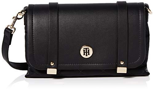 Tommy Hilfiger Th Elegant Crossover Quilted, Sacs bandoulière femme, Noir (Black), 1x1x1 cm (W x H L)