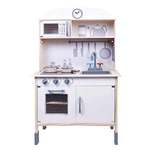 ColorBaby Cocina madera con luz, sonido y accesorios, 70 x 37 x 105 cm, color (Baby 85096)