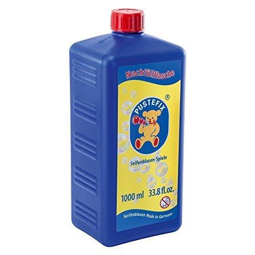 Pustefix - Botella maxi, líquido de jabón para hacer pompas, 1000 ml (Carrera 420869725)