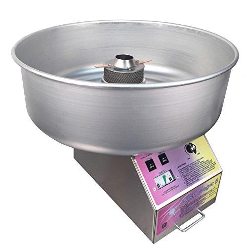 Spin Magic Candy Floss Maschine-Commercial Cotton Candy Maschine mit Schale aus Metall