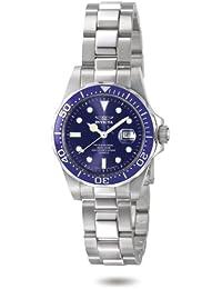 Invicta 4863 - Reloj analógico de mujer de cuarzo con correa de acero  inoxidable plateada - d417812a6a37