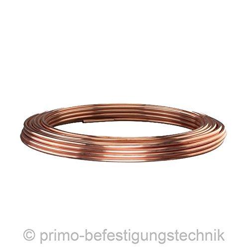 50m in anelli 6x 1mm dopo EN 1057linea ölleitung olio combustibile riscaldamento tubi in rame per