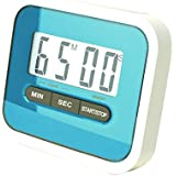 Preyank Solar Compact Lab & Kitchen Timer Stop Watch With Alarm, Large Digital LCD Display. With Table Stand & Fridge Magnet BLUE