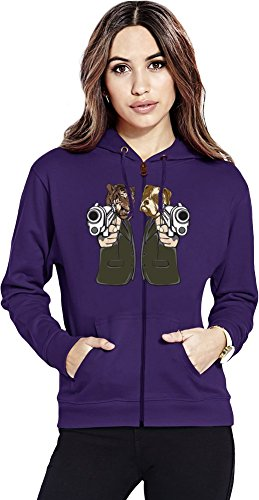 Pulp Fiction Lion And Dog Womens Zipper Hoodie Small - Dog Skull Hoodie Kleidung