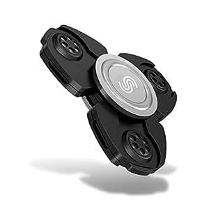 iGearPro Best Metal Fidget Spinner Hand Spinner, EDC Spinner Fidget Toys, Ultra Speed - Premium Bearing. Best Quality and Best Service. (Black)