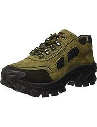 Woodland Men's OGC 2995118_Olive Green_9 Leather Boat Shoes-9 UK (43 EU) (10 US) 2995118OLIVE