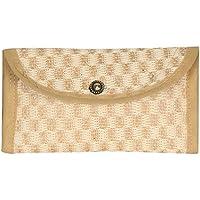 Aadriti Women's Jute Bag- Money Purse, Wallets & Clutches.Beige