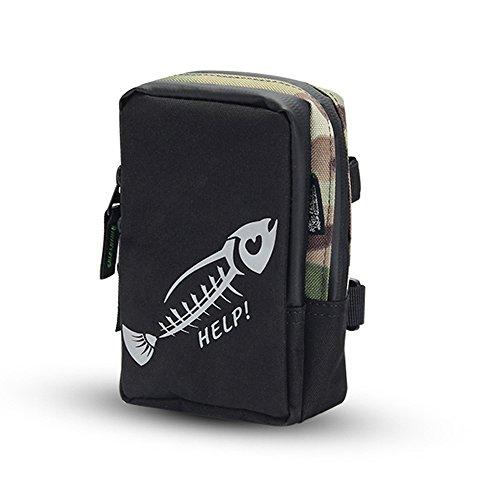 Lixada borse di pesca borsa da pesca portatile mini fishing tackle bag borsa di pesca tasca attrezzatura