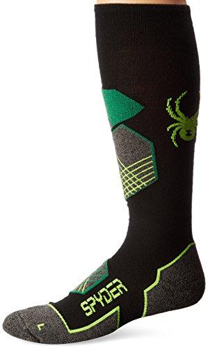 Acryl-sport-team Sock (Spyder Explorer, Herren, Black/Amazon/Bryte Yellow)