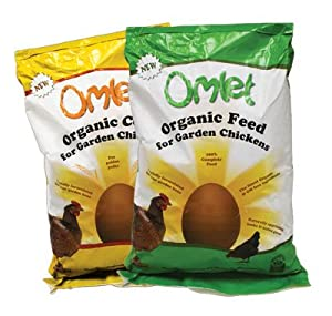Organic Omlet Chicken Feed 10kg and Mixed Corn 10kg by Omlet