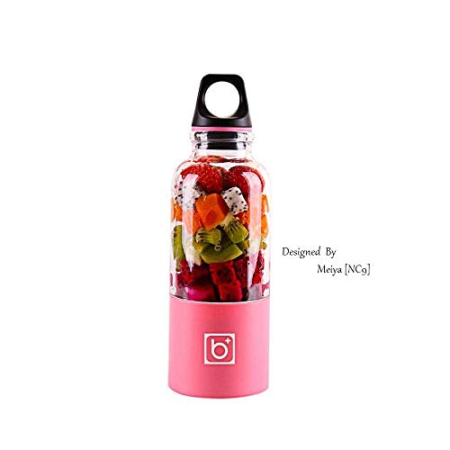 500ml Juice Blender, Aolvo Portable Travel Juicer Bottle Tamaño Personal Eléctrico Recargable Fruit Juicer Mixer con Cable USB Charger para Frutas Verduras