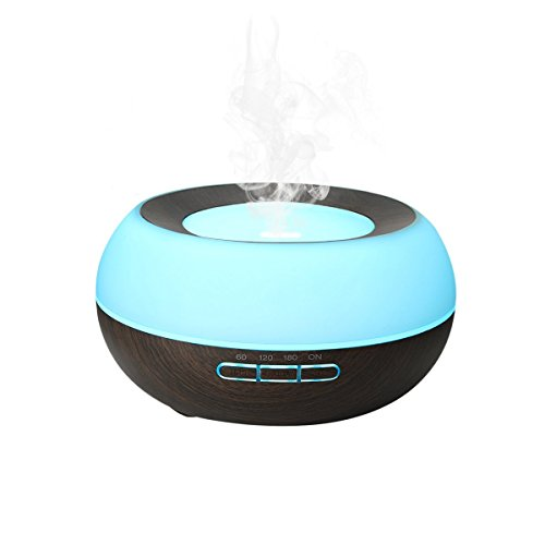 300ML-Aromatherapy-Diffuser-Pococina-Electric-Essential-Scented-Oil-Diffusers-Ultrasonic-Aromatherapy-Humidifiers-with-7-Color-Changing-LED-Lights-and-Timer-Setting-Aroma-Diffuser-and-Air-Purifier-for