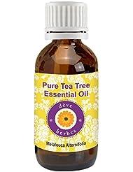 Deve Herbes Pure Tea Tree Essential Oil 15ml (Melaleuca alternifolia) 100% Natural Therapeutic Grade