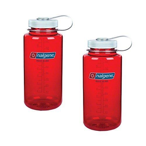 Nalgene Everyday Triton Wide Mouth 32oz Bottle - 2 Pack (Outdoor Red) by Nalgene - Mouth 32 Nalgene Wide Oz
