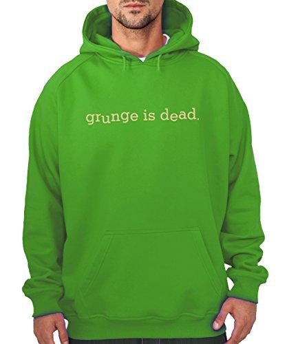 clothinx - Grunge is Dead - Boys Kapuzenpullover Kelly Green, Größe XXL Kelly Green Boys Band
