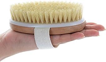 LEORX Pelle secca in legno corpo spazzola con setole naturali