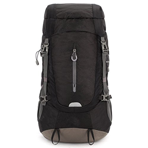 Escursionismo Zaino Multifunzionale Arrampicata Camping Rucksack Impermeabile Borsa Sportiva Outdoor Trekking,Blue BlackAndGray