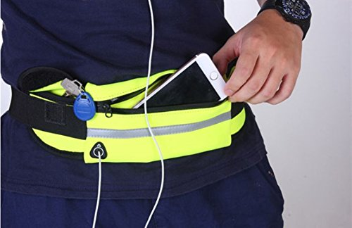 Lifenewbaby cintura da corsa Waistpack marsupio impermeabile Phone cintura borsa per palestra sport outdoor, Light Blue Dark Blue