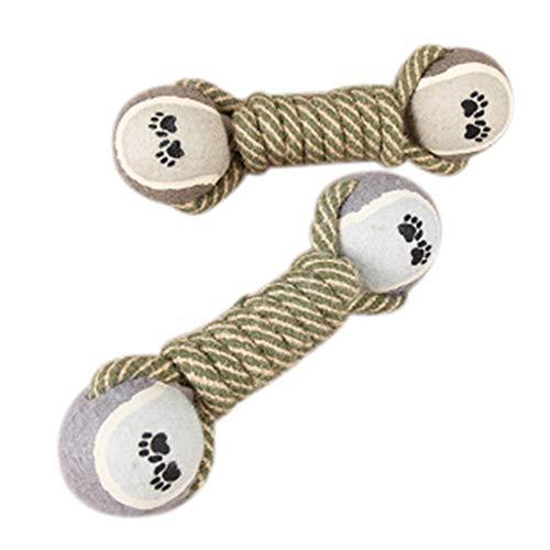 Carry stoneBaumwolle Haustier Hund Seil Kauen Schlepper Spielzeug Knoten Knochen Ball Form Haustiere Palying Zahnreinigung Spielzeug Für Kleine Mittelgroße Hunde Hohe Qualität - Hund Für Mittelgroße Hunde Knochen