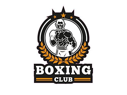 1 x Aufkleber Boxing Sticker Club Boxer Weltmeister Rocky Sticker Verein Star (Club-aufkleber)