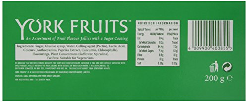 york fruits. york fruits jellies 200 g (pack of 8) n
