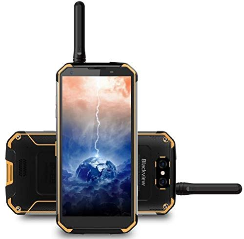 "Blackview BV9500pro, walkie-talkie & Battery 10000 mAh IP68 / IP69K Waterproof / Shockproof / Anti-Dust Smartphone IP68 Android 8.1, FHD + screen from 5,7 ""(18: 9), 2,5 GHz Octa Core 6 GB + 128 GB, 12V / 2A fast charge (wireless charging supported), 16 MP rear camera, GPS / NFC / fingerprint - Yellow"
