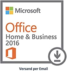Microsoft Office Home and Business 2016 Mac Download (E-Mail)
