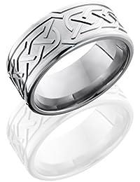 Titanium, Celtic Engraved Wedding Band (sz H to Z1)