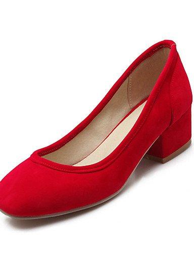 WSS 2016 Chaussures Femme-Mariage / Habillé / Décontracté / Soirée & Evénement-Noir / Bleu / Rouge / Beige-Gros Talon-Talons-Talons-Similicuir black-us6 / eu36 / uk4 / cn36