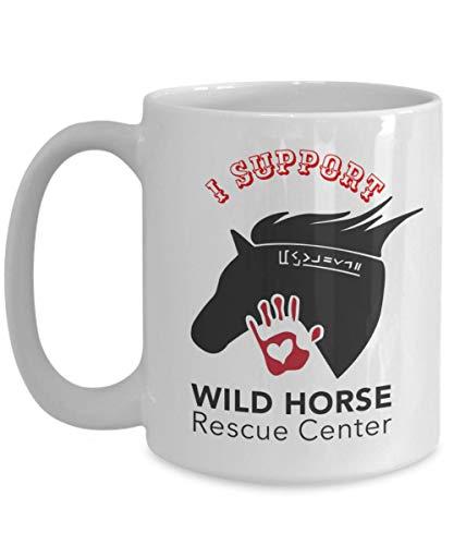 FloradeSweet Ich st¨¹TZE wildes Pferde-Rettungszentrum-keramische Geschenk-Kaffeetasse Helfen Sie, die Mustangs-Teetasse-Keramik-Tasse Kaffeetasse-Kaffeetasse zu retten