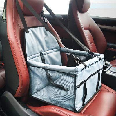 Cani Auto posto a sedere Carrier - Car Booster Borsa portatile e traspirante per cani da compagnia fino a 25LB (Grigio)