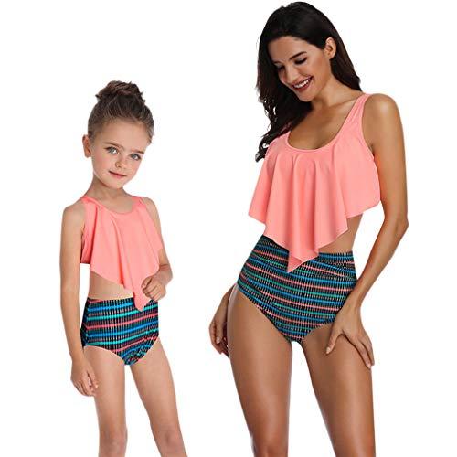 22999195169c Costumi da Bagno Interi Donna Bikini Eleganti BANAA Estivi Bambine Ragazze  Ruffle Stampato Costume da Bagno