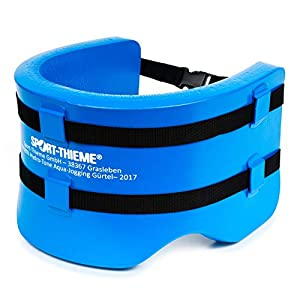 Sport-Thieme Hydro-Tone Aqua Jogging Gürtel | Für Aquajogging und Aquafitness| Enganliegend, Flexibel | Snap-In Verschluss | Bis 100 kg | Spezialschaumstoff | Blau | Markenqualität