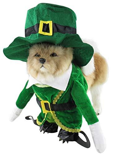 Mombebe Hunde Dogs Halloween Cosplay Kostüm Kleidung Sets Weihnachten mit Hut (M, Weihnachten)
