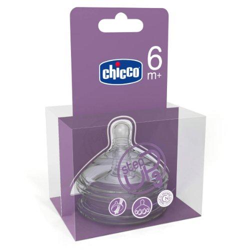 Chicco 00060075100000 - Tettarella in silicone Step-Up 3, flusso rapido, confezione da 2