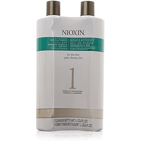 Nioxin Sistema 1detergente & cuoio capelluto terapia Conditioner Duo 33,8oz