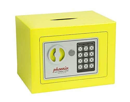 Phoenix SS0721EY - Caja fuerte (Acero, Amarillo, Flat key, 228 x 120 x 168 mm)