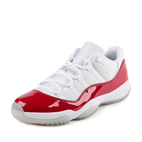 an 11 Retro Low Basketballschuhe, Blanco (White/Varsity Red-Black), 44 EU ()