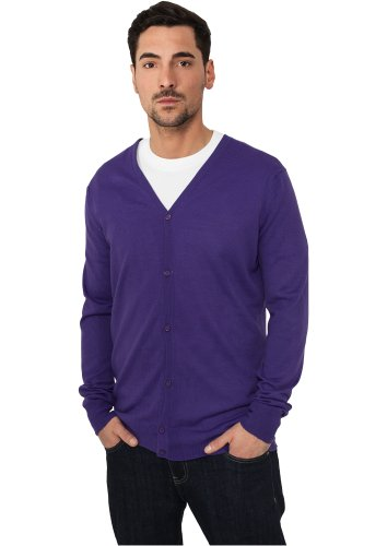 Preisvergleich Produktbild URBAN CLASSICS Herren Knitted Cardigan TB405 purple L