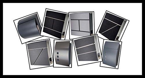 Designer Briefkasten / Mailbox / Modell 333 Edelstahl 18/0 mit Schutzlackierung und Zeitungsfach / NUR 1 x VERSANDKOSTEN FÜR ALLE BESTELLUNGEN ZUSAMMEN !!! - 3