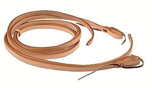 HKM 542068 Texas Western Zügel, 5 mm extra dickem Leder, Länge 220 cm, Hellbraun
