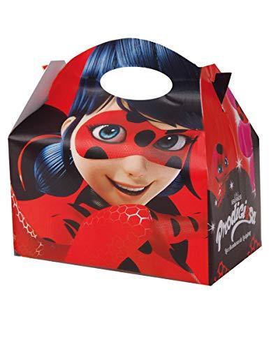 Ladybug-Schachtel Carton Befüllen mit Verzierungen von Lady Bug, Paket von 12Weihnachtsschachteln